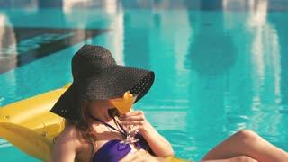 Beautiful Young Bikini Woman Relaxing