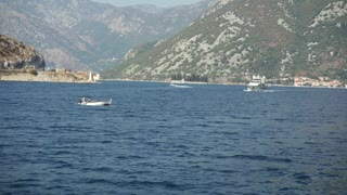 Excursion on sailing boat in the Bay of Boka, Montenegro, Adriatic Sea, Mediterranean Sea in September 2016 4k