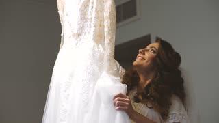 Lacing Wedding Dress. Wedding morning
