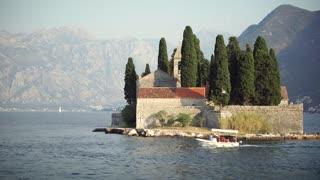 Regatta of Sailing boats in the Boka bay, Montenegro, Adriatic, in 4k