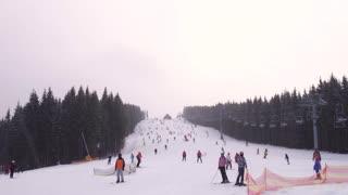Ski Slope at Mountain