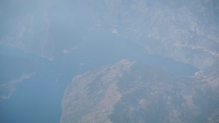 Traveling by air. View Through an Airplane Window. 4k resolution