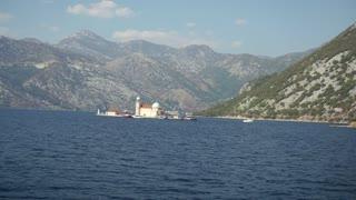 Treveling on sailing boat in the Bay of Boka, Montenegro, Adriatic Sea, Mediterranean Sea in September 2016