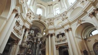 Architecture Dominican Church in Ukraine city Lvov