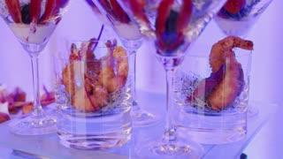 Catering food indoor in luxury restaurant