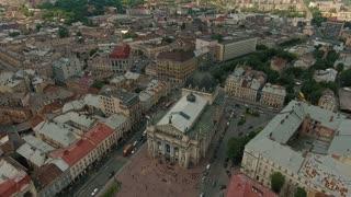 Central Part of Old City Lviv Opera Ukraine