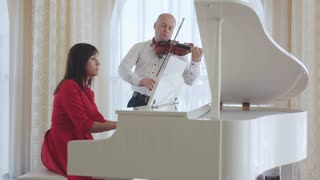 Classical musician orchestra music playing