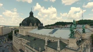 Lviv Opera Ukraine. Central Part of Old City