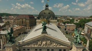 Old City Lviv Opera Ukraine