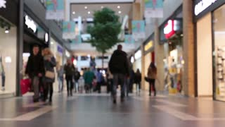 Time lapse of people at shopping mall