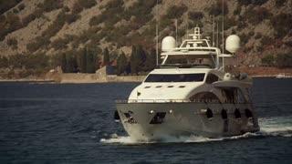 Yacht in the Boka bay, Montenegro, September 3 2016