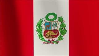 A beautiful satin finish looping flag animation of Peru.