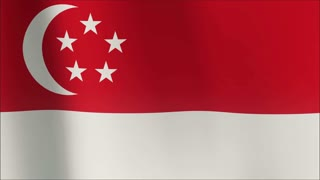 A beautiful satin finish looping flag animation of Singapore.