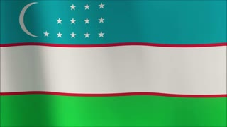 A beautiful satin finish looping flag animation of Uzbekistan.