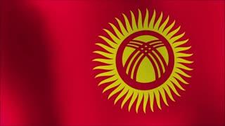 animated flag of Kyrgyzstan - seamless loop 4k