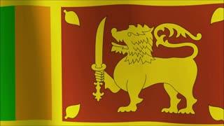 animated flag of sri lanka - seamless loop