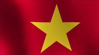 animated flag of vietnam - seamless loop