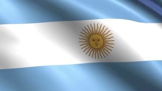 Creased argentina cotton flag 4k resolution