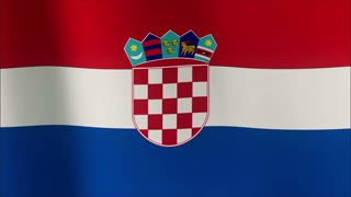 Croatian flag in the wind. Part of a series.