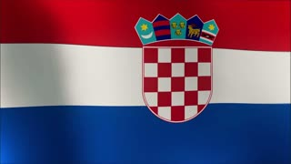 Croatian flag in the wind.