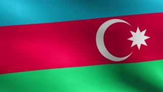 Flag of Azerbaijan Beautiful 3d animation of the Azerbaijan flag in loop mode