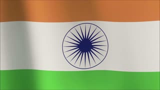 Flag of India (seamless) 4K 100% loop