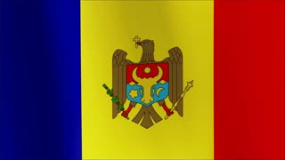 Flag of Moldova Beautiful 3d animation revealing the Moldova flag