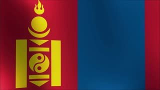 Flag Of Mongolia Background Seamless Loop Animation 4k loop