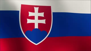 Flag of Slovakia Beautiful 3d animation of Slovakia flag in loop mode