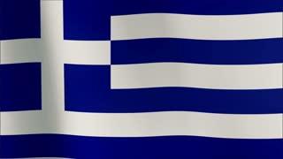 Greek flag waving in the wind. Part of a series. 4K resolution 100% loop
