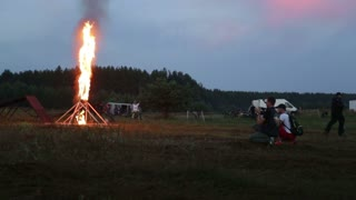 motocross in the night fire jump
