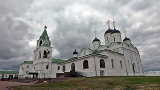 Orthodox Church against the dramatic sky