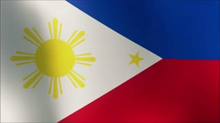 Philippines flag in the wind. Part of a series 4k