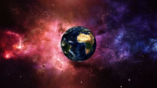 Planet Earth Fly in Deep Space 4k footage