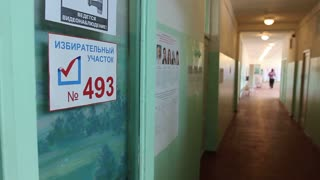 polling in the election in Russia
