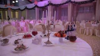 serving restaurant before a banquet