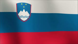 Slovenian flag in the wind. Part of a series. 4k flag