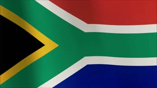 South African flag Seamless looping high definition video