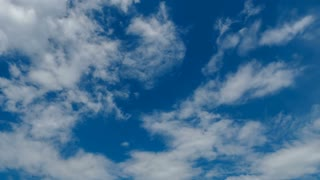 Clouds Timelapse On Blue Sky 4k