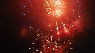 Colorful Fireworks in the Night Sky FullHD