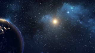 Earth Planet in Space Motion Graphic Footage