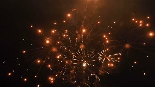 Fireworks in the Night Sky FullHD