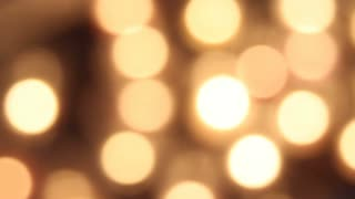 Golden Bokeh Particles Background FullHD