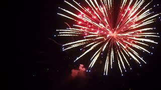 Holiday Fireworks in the Night Sky FullHD