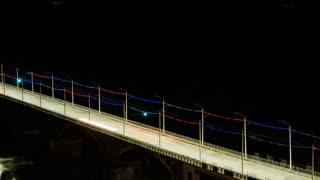 Night Bridge Timeplapse Footage 4k