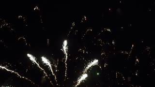 night firework celebration footage fullhd