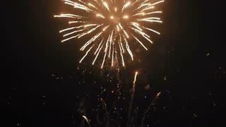 Night Firework Festival 4k footage