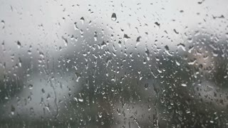 Rain On Window Glass FullHD
