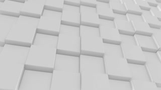White Cube background 4K. 100 loop