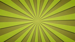 Footage animated background of yellow rotating beams. loopable 4k video.